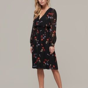 ABS black floral midi Dress  new with tags
